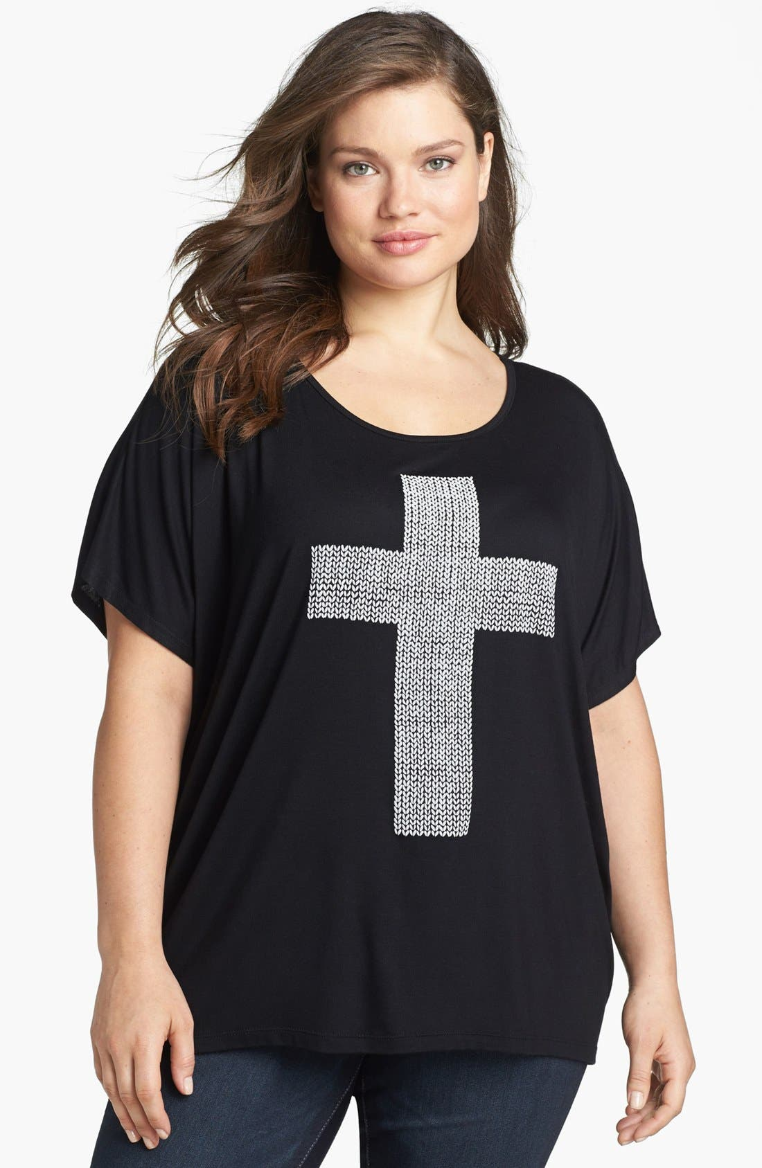 Alternate Image 1 Selected - Bobeau High/Low Tee (Plus Size)