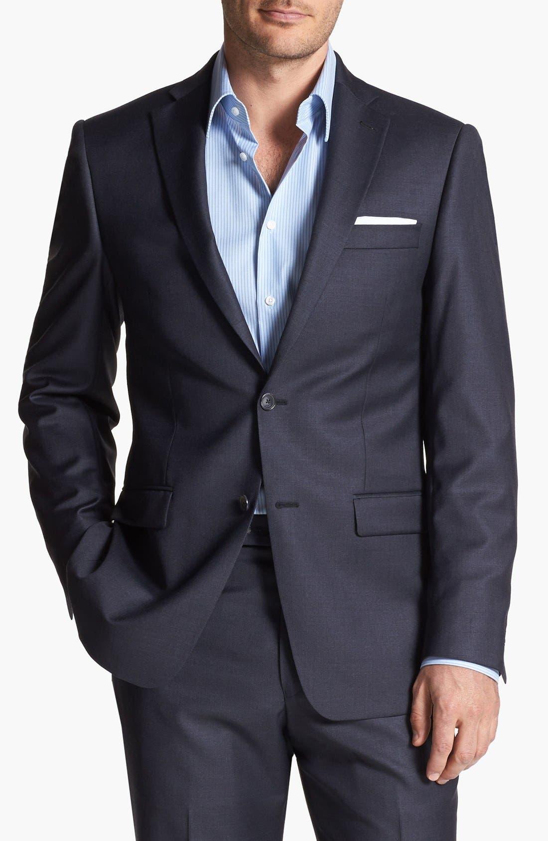 Alternate Image 4  - Michael Kors Trim Fit Wool Suit
