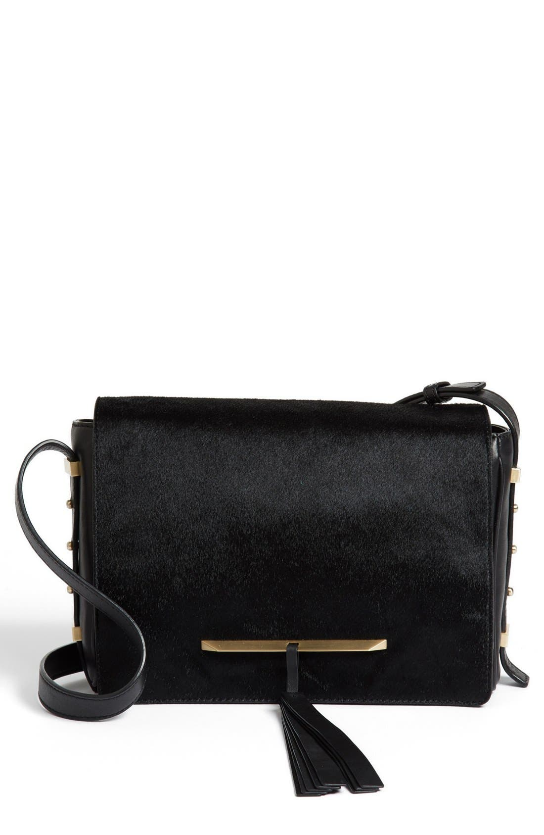 Alternate Image 1 Selected - B Brian Atwood 'Brigitte' Calf Hair Crossbody Bag, Small