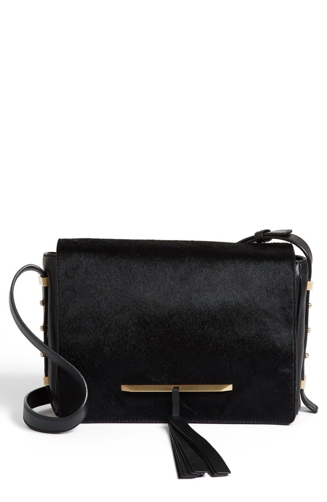 Main Image - B Brian Atwood 'Brigitte' Calf Hair Crossbody Bag, Small