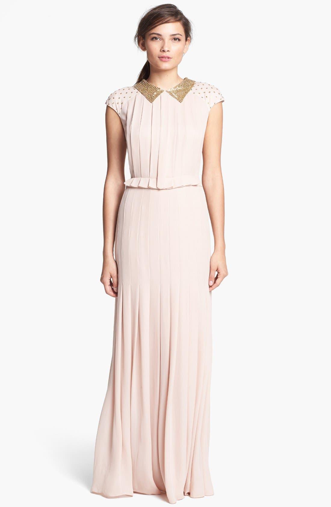 Alternate Image 1 Selected - Tory Burch 'Tatum' Silk Dress