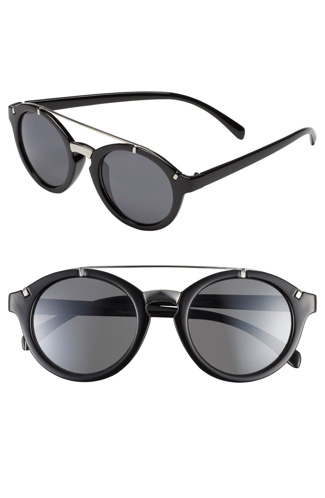 Alternate Image 1 Selected - Leith Round Cat Eye Sunglasses