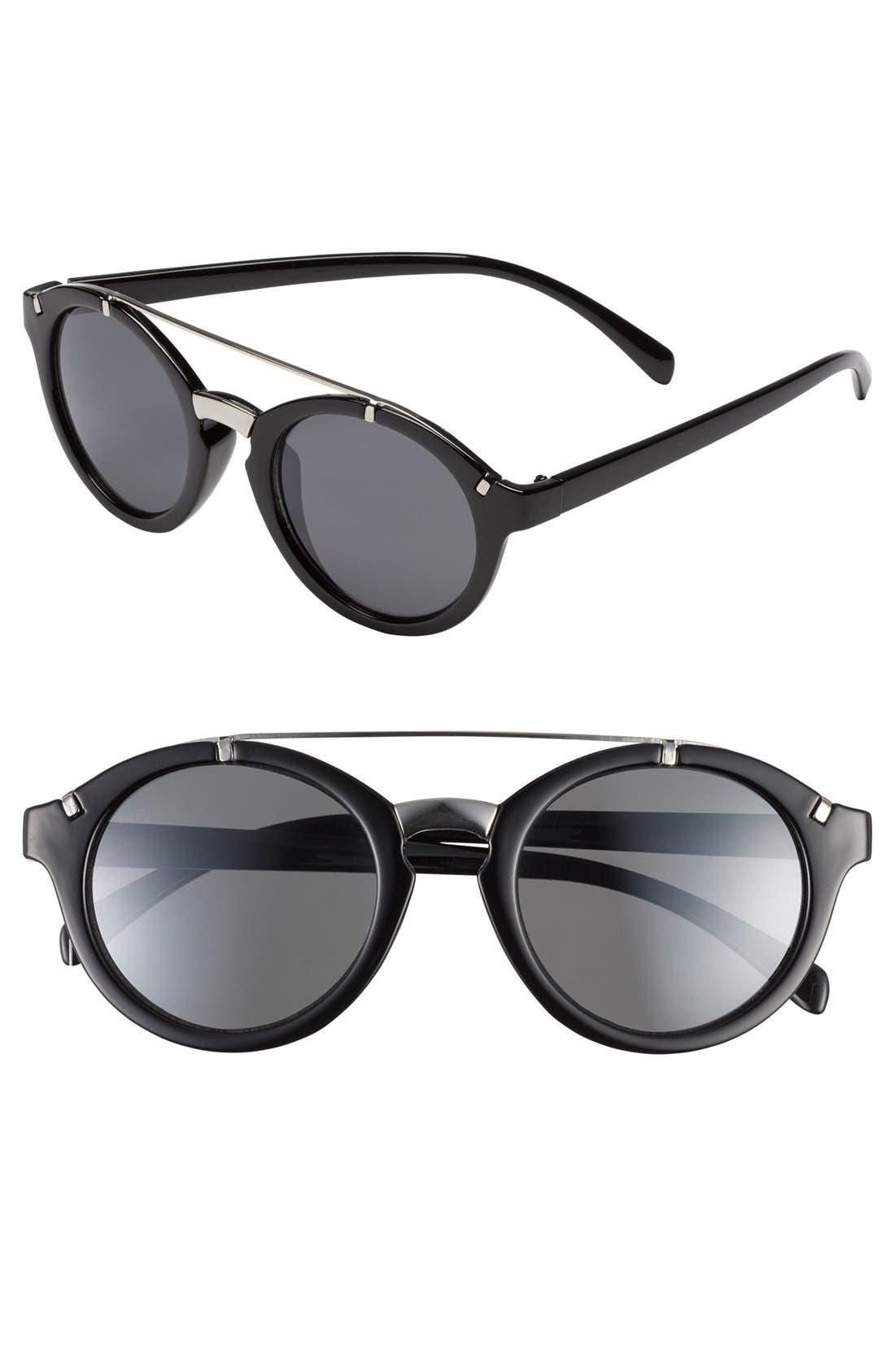 Main Image - Leith Round Cat Eye Sunglasses