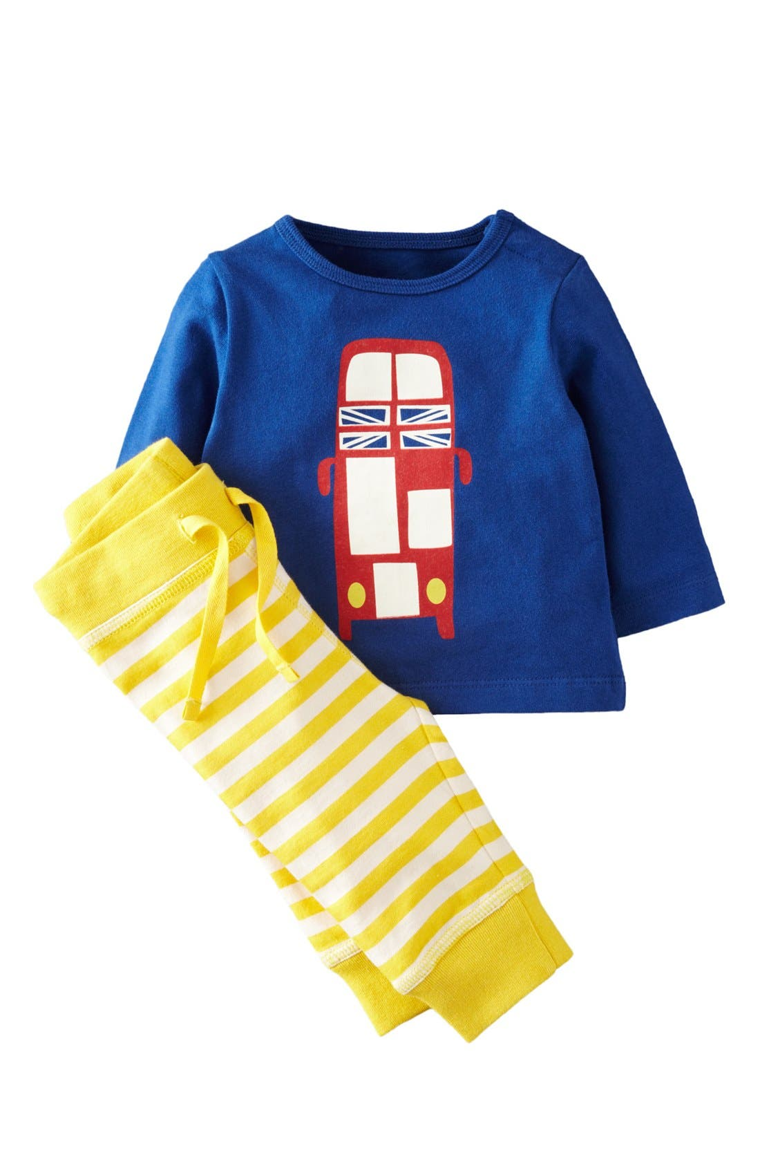 Alternate Image 1 Selected - Mini Boden Shirt & Leggings (Baby Boys)
