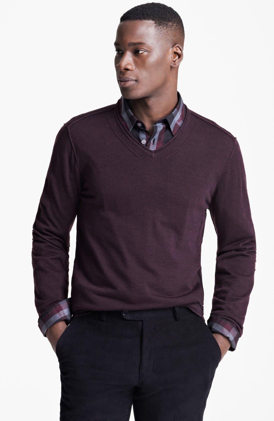 Alternate Image 1 Selected - John Varvatos Star USA V-Neck Sweater