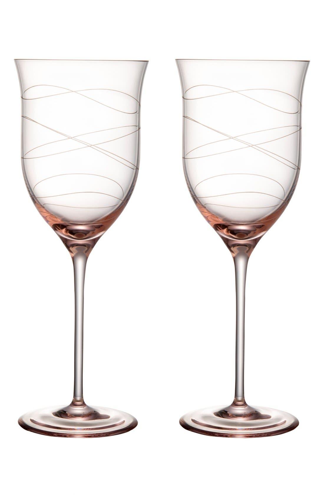 Alternate Image 1 Selected - Nambé 'Motus - Pink' Goblets (Set of 2)