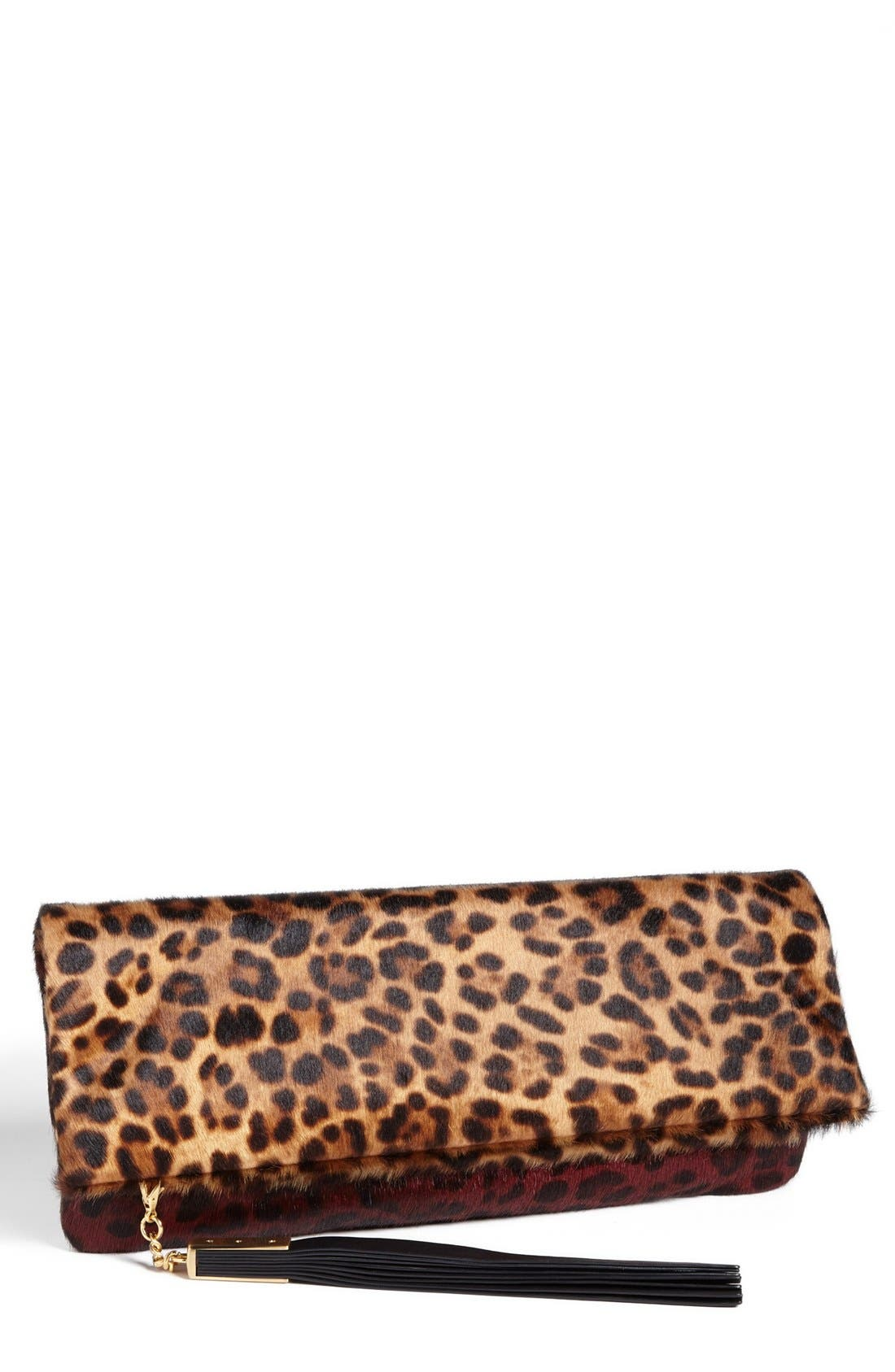 Alternate Image 1 Selected - B Brian Atwood 'Robin' Genuine Calf Hair Foldover Clutch