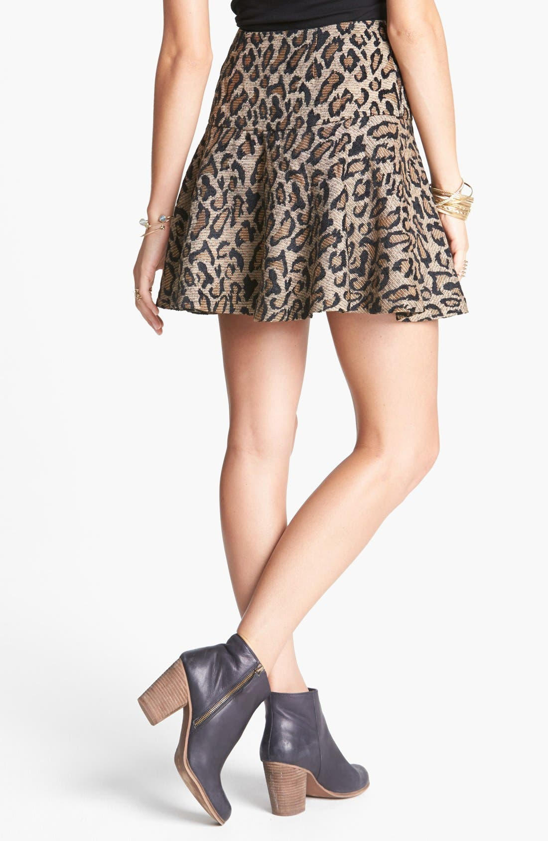 Alternate Image 2  - Free People Cheetah Jacquard Skirt