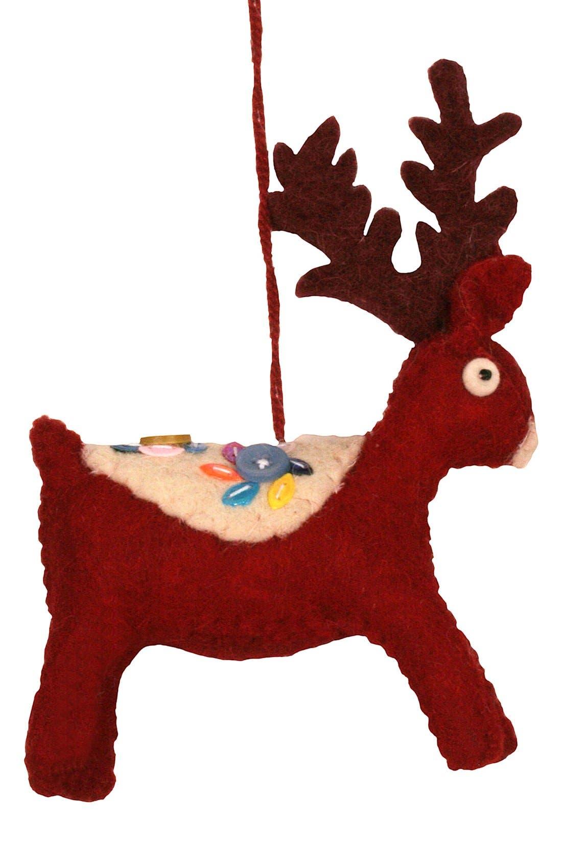 Alternate Image 1 Selected - Creative Co-Op Felt Deer Ornament