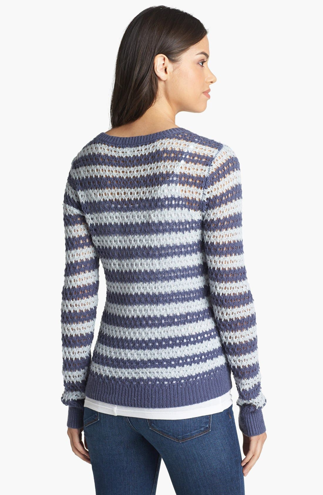Alternate Image 2  - Caslon® Open Knit Stripe Sweater