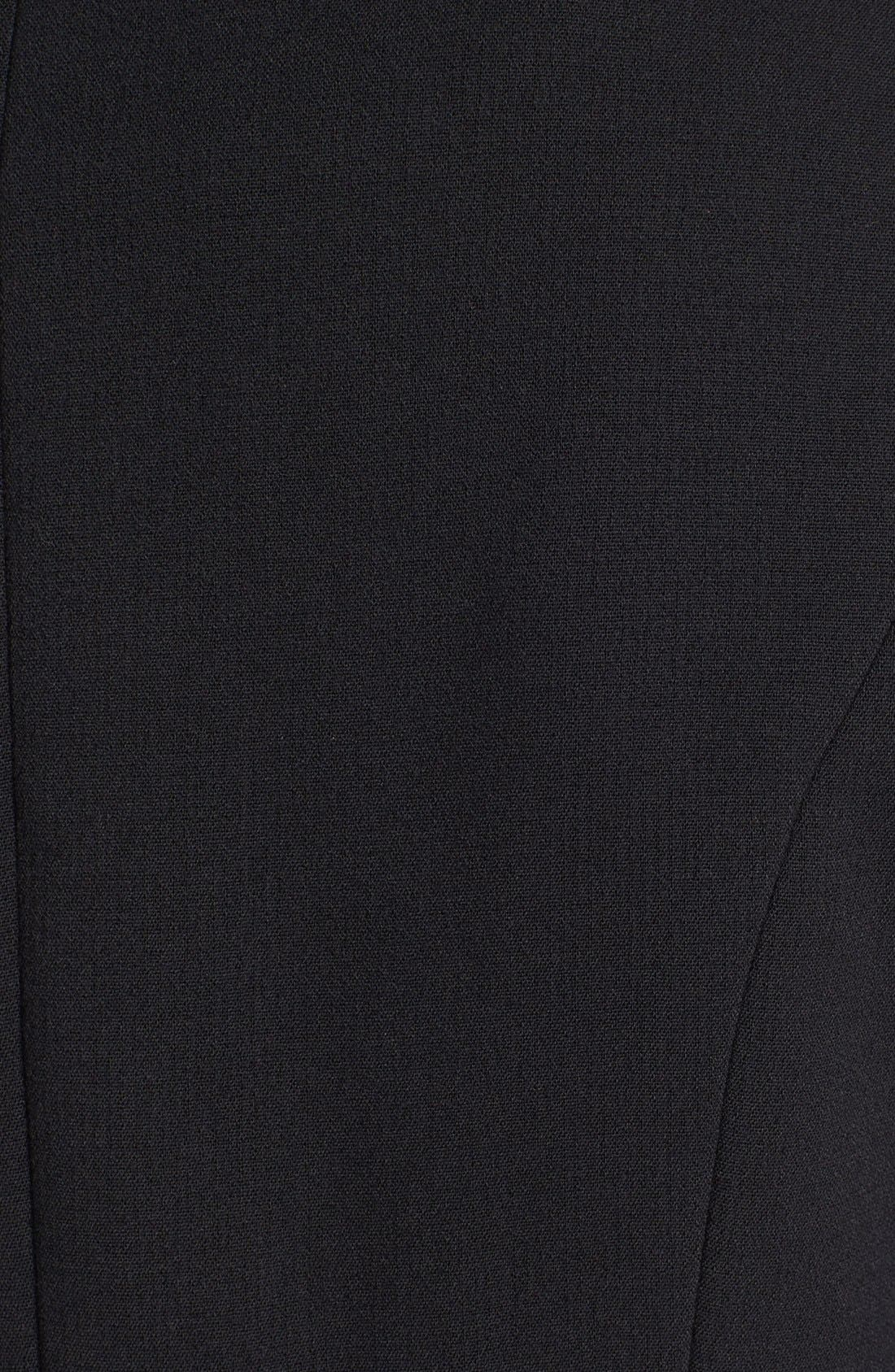 Alternate Image 3  - bebe Asymmetrical Coat with Detachable Faux Fur Collar