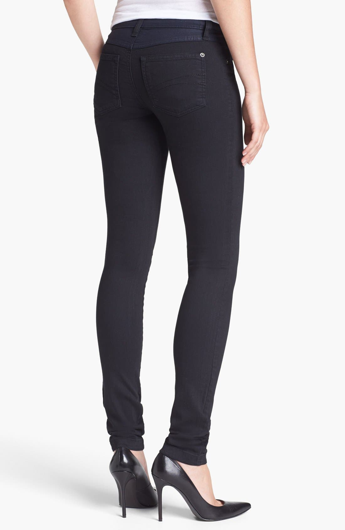 Alternate Image 2  - Yoga Jeans by Second Denim High Rise Colorblock Skinny Jeans
