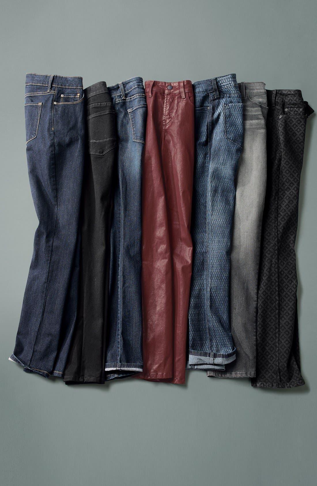Alternate Image 4  - NYDJ 'Alina' Stretch Skinny Jeans (Stoney River) (Regular & Petite)