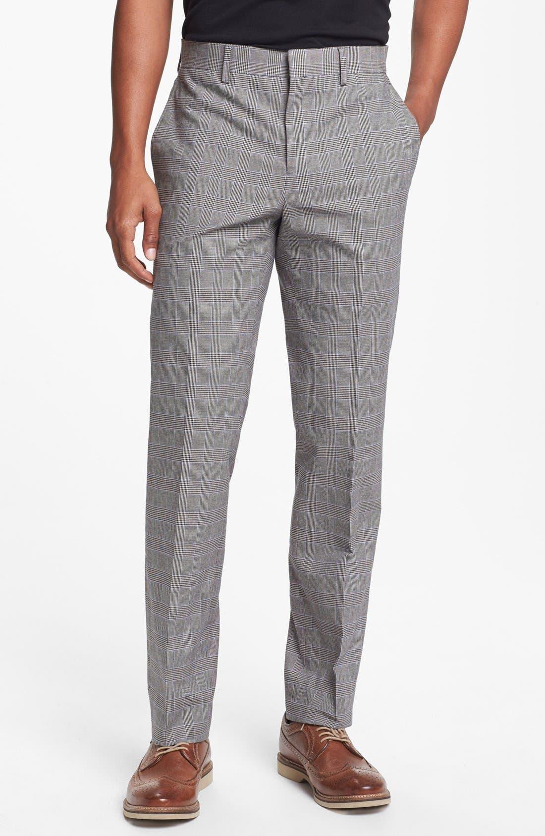 Alternate Image 1 Selected - 1901 Slim Fit Glen Plaid Pants