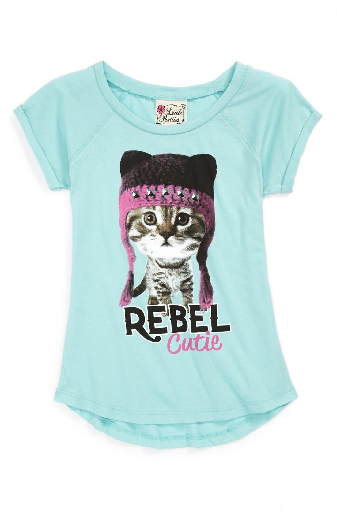 Alternate Image 1 Selected - Little Pretties 'Rebel Cutie' Tee (Little Girls)