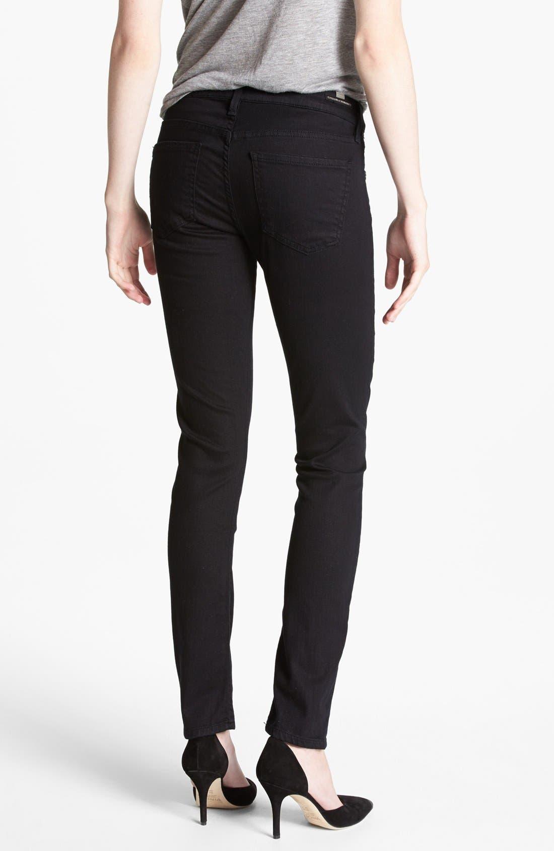 Alternate Image 2  - Citizens of Humanity 'Racer' Low Rise Skinny Jeans (Black Diamond)