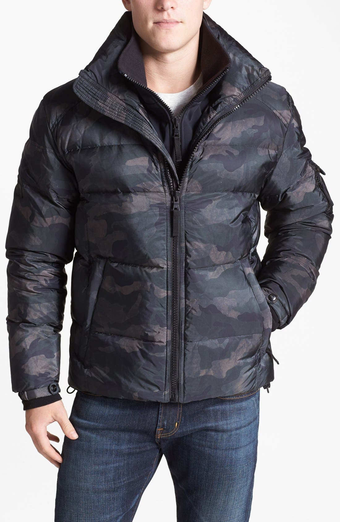 Alternate Image 1 Selected - SAM 'Racer' Camouflage Water Resistant Puffer Jacket