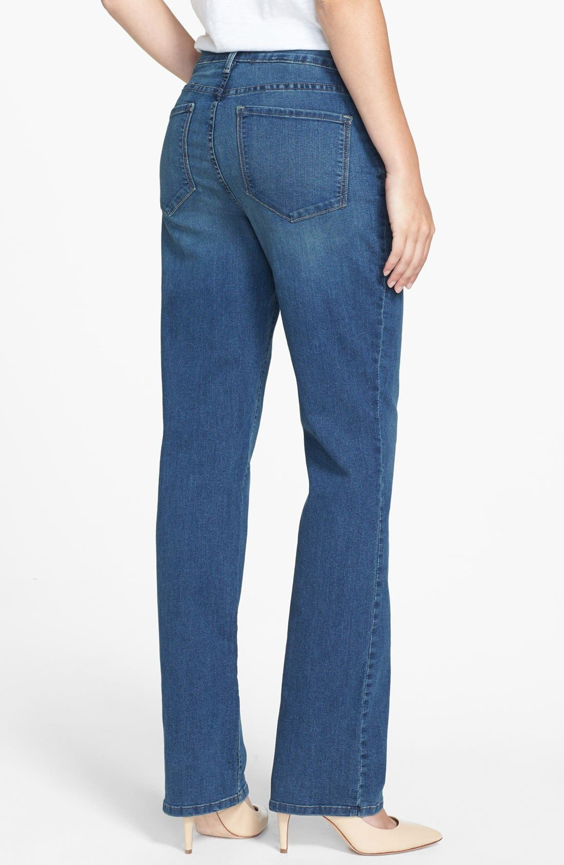 Alternate Image 2  - NYDJ 'Marilyn' Stretch Straight Leg Jeans (Regular & Petite)