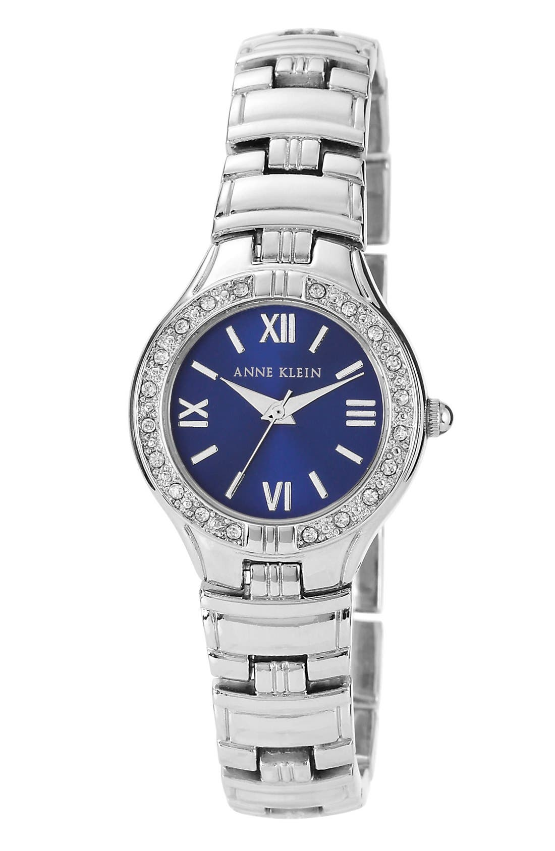 Main Image - Anne Klein Crystal Bezel Bracelet Watch, 25mm