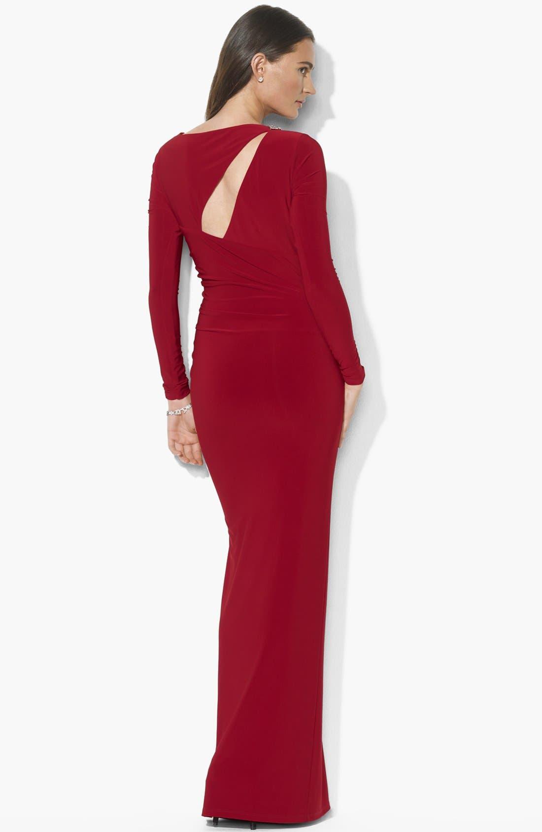 Alternate Image 2  - Lauren Ralph Lauren Matte Jersey Dress