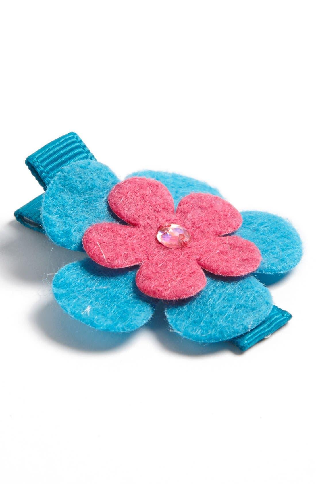 Alternate Image 1 Selected - PLH Bows & Laces Felt Flower Clip (Baby Girls & Toddler Girls)