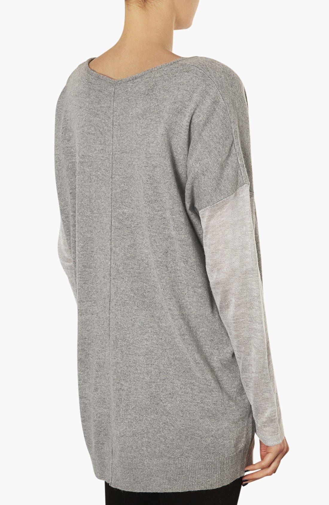 Alternate Image 2  - Topshop V-Neck Maternity Sweater