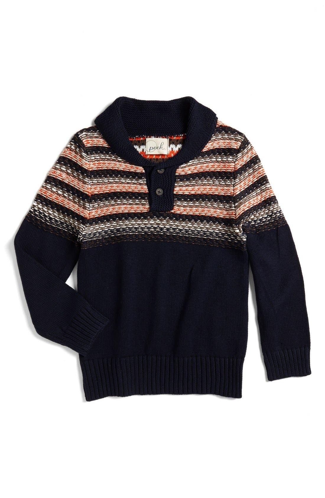 Main Image - Peek 'Grayson' Shawl Collar Sweater (Big Boys)