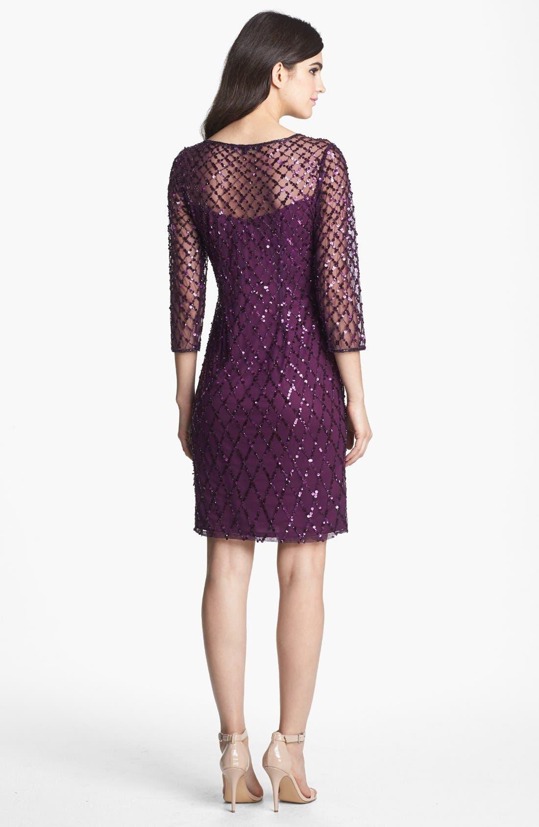 Alternate Image 2  - Pisarro Nights Beaded Short Dress