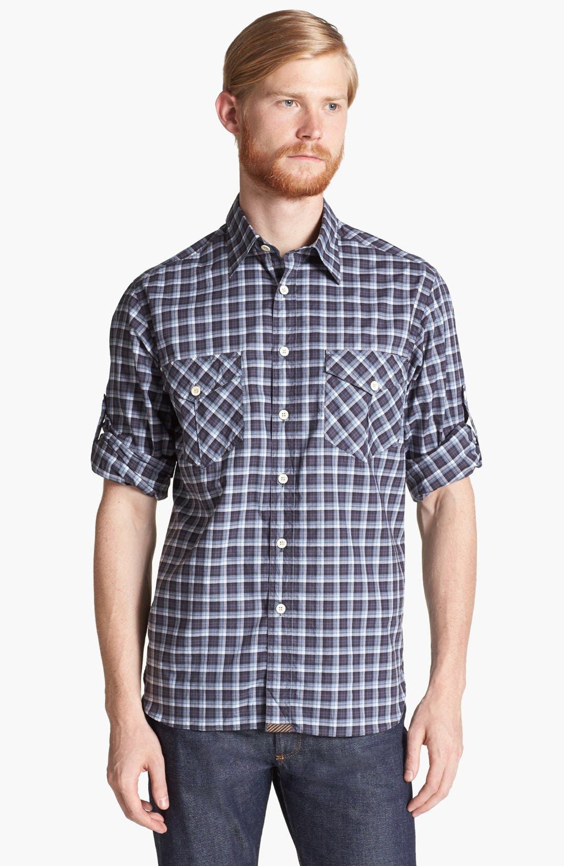 Main Image - Billy Reid 'Helton' Plaid Shirt