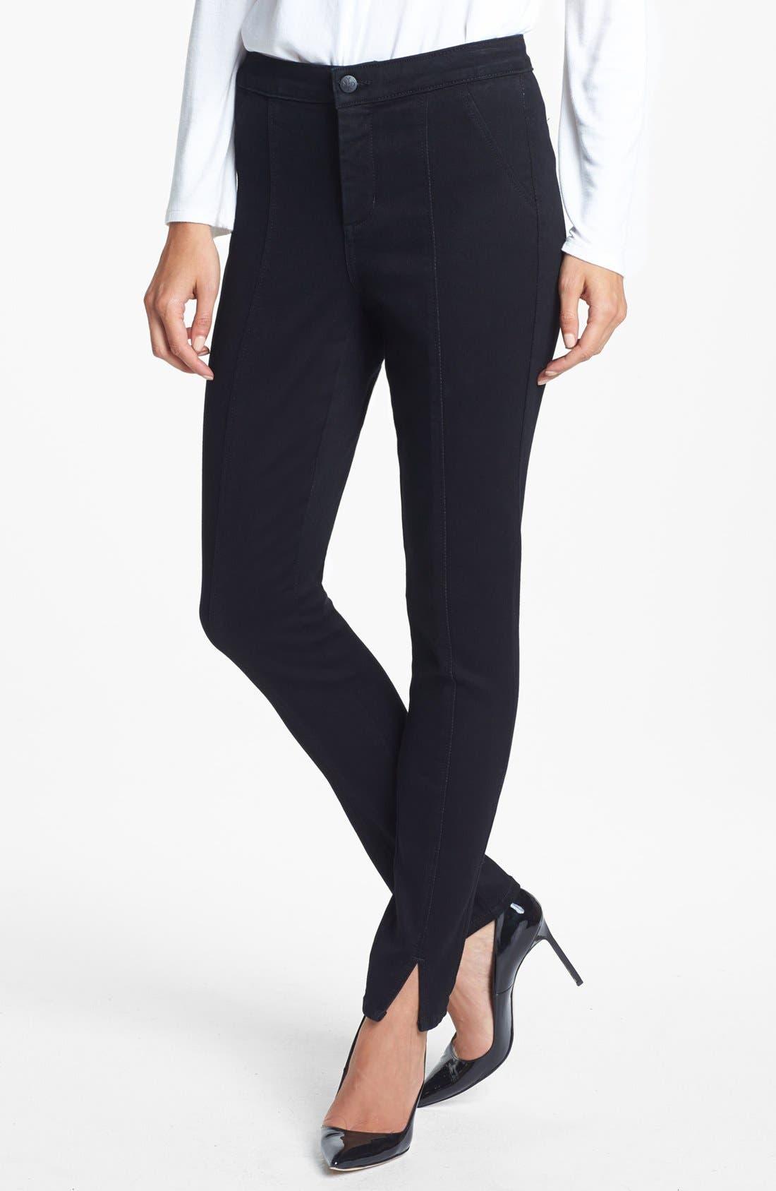 Alternate Image 1 Selected - NYDJ 'Lotus' Stretch Skinny Jeans (Overdye Black)