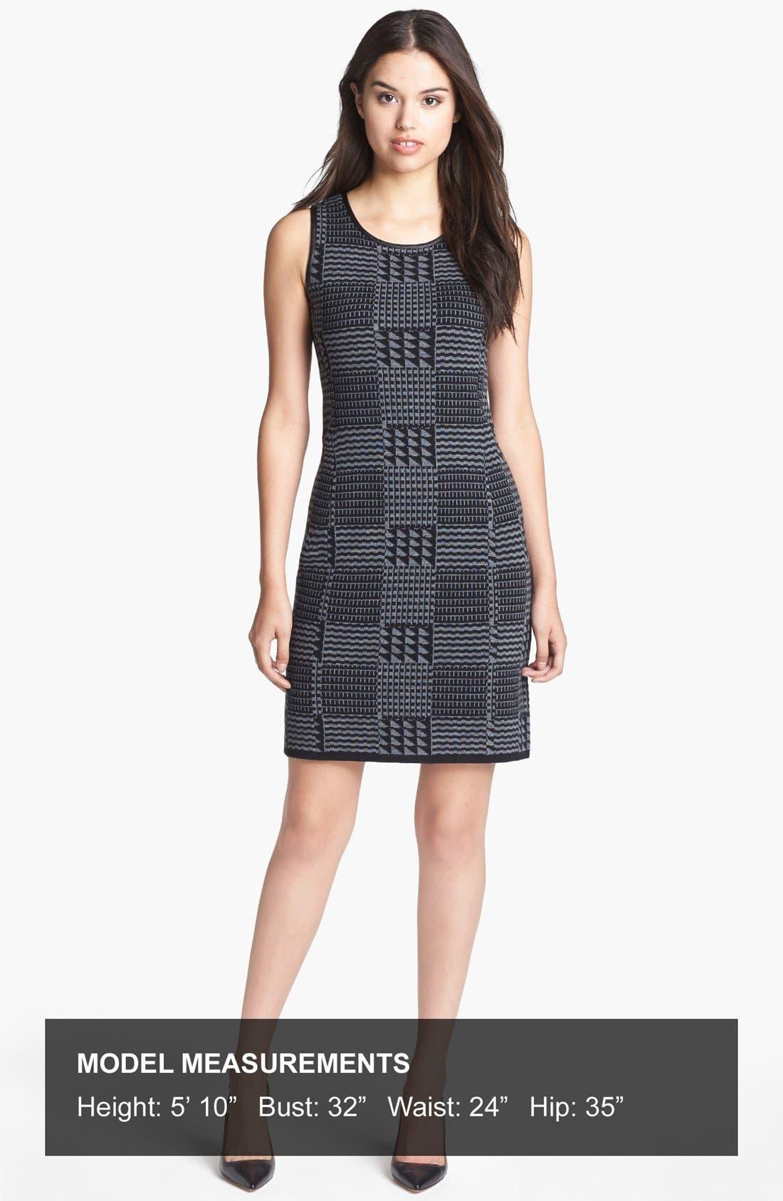 Alternate Image 4  - Halogen® Faux Leather Trim Knit Sheath Dress
