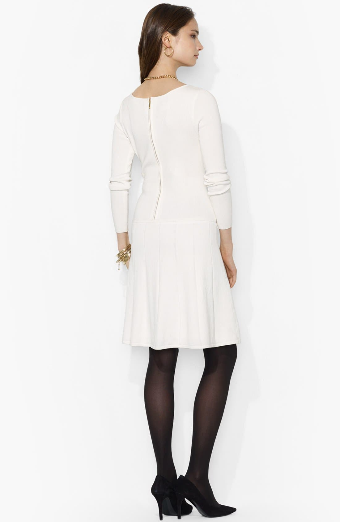 Alternate Image 2  - Lauren Ralph Lauren Fit & Flare Sweater Dress