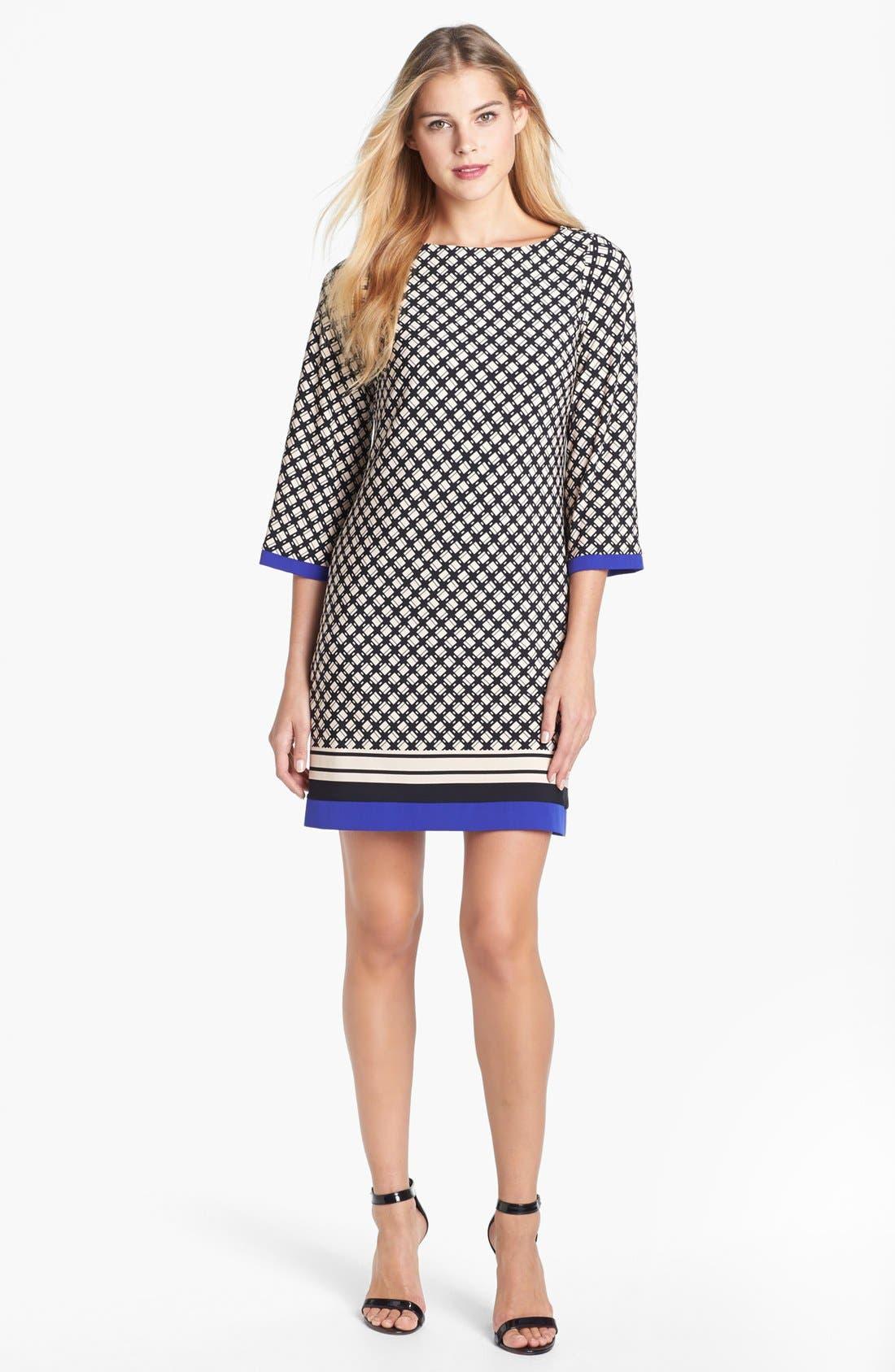 Alternate Image 1 Selected - Eliza J Print Jersey Shift Dress