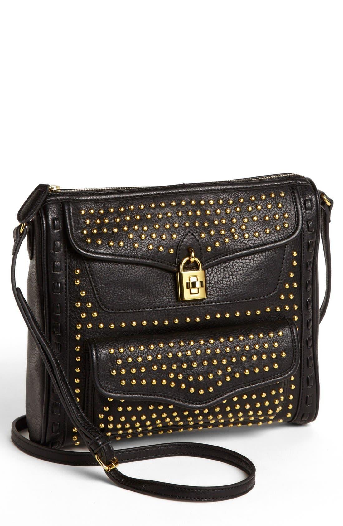 Alternate Image 1 Selected - Jessica Simpson 'Madison' Pebble Studded Crossbody Bag