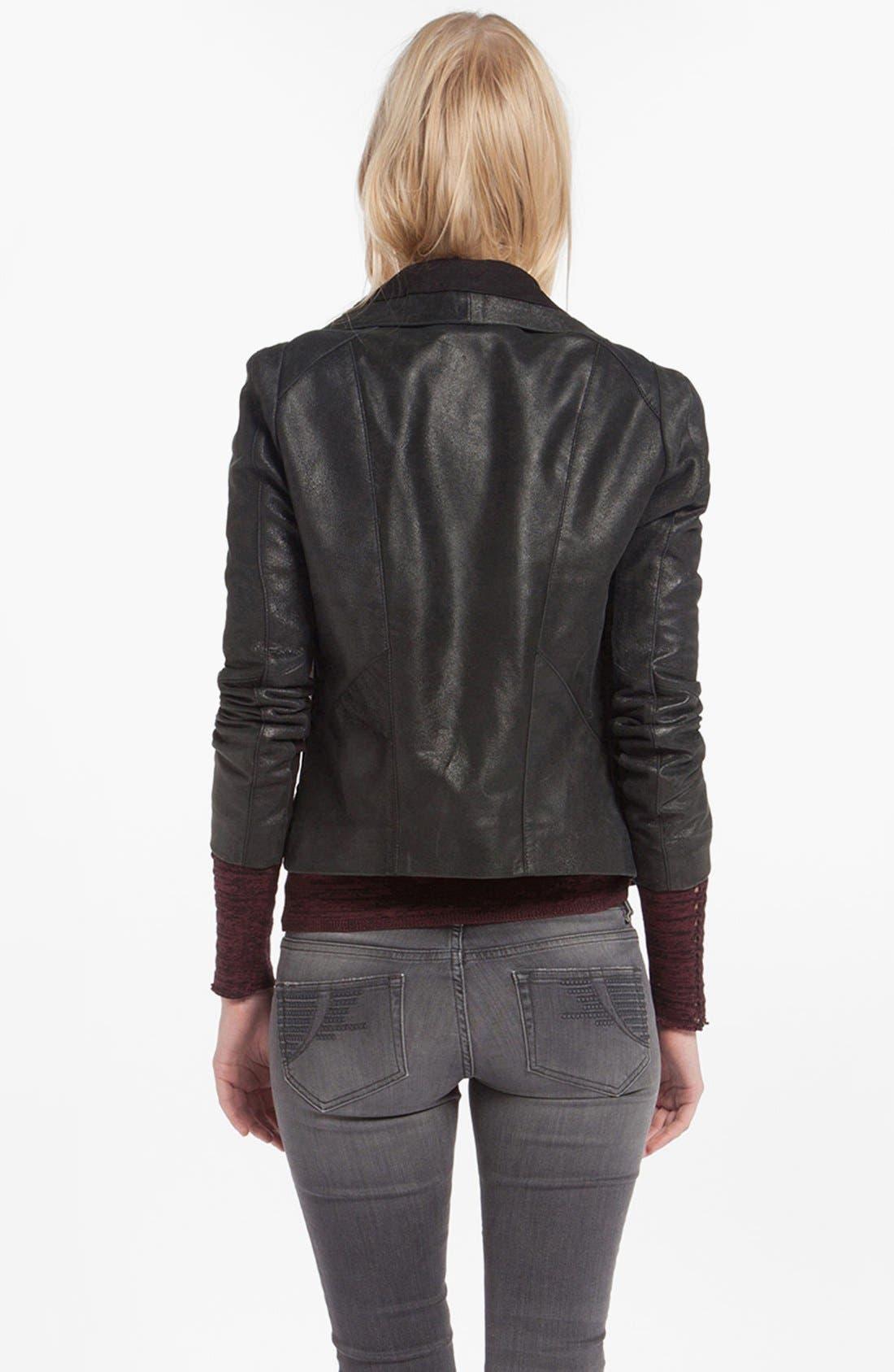 Alternate Image 2  - maje 'Debbie' Leather Jacket