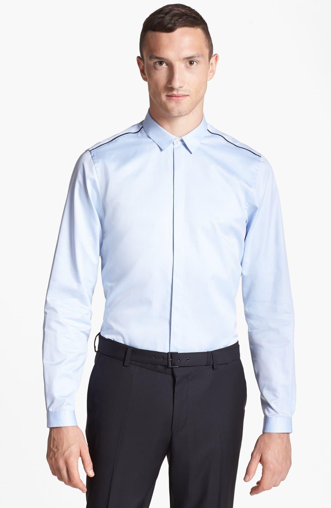 Alternate Image 1 Selected - The Kooples Contrast Trim Dress Shirt