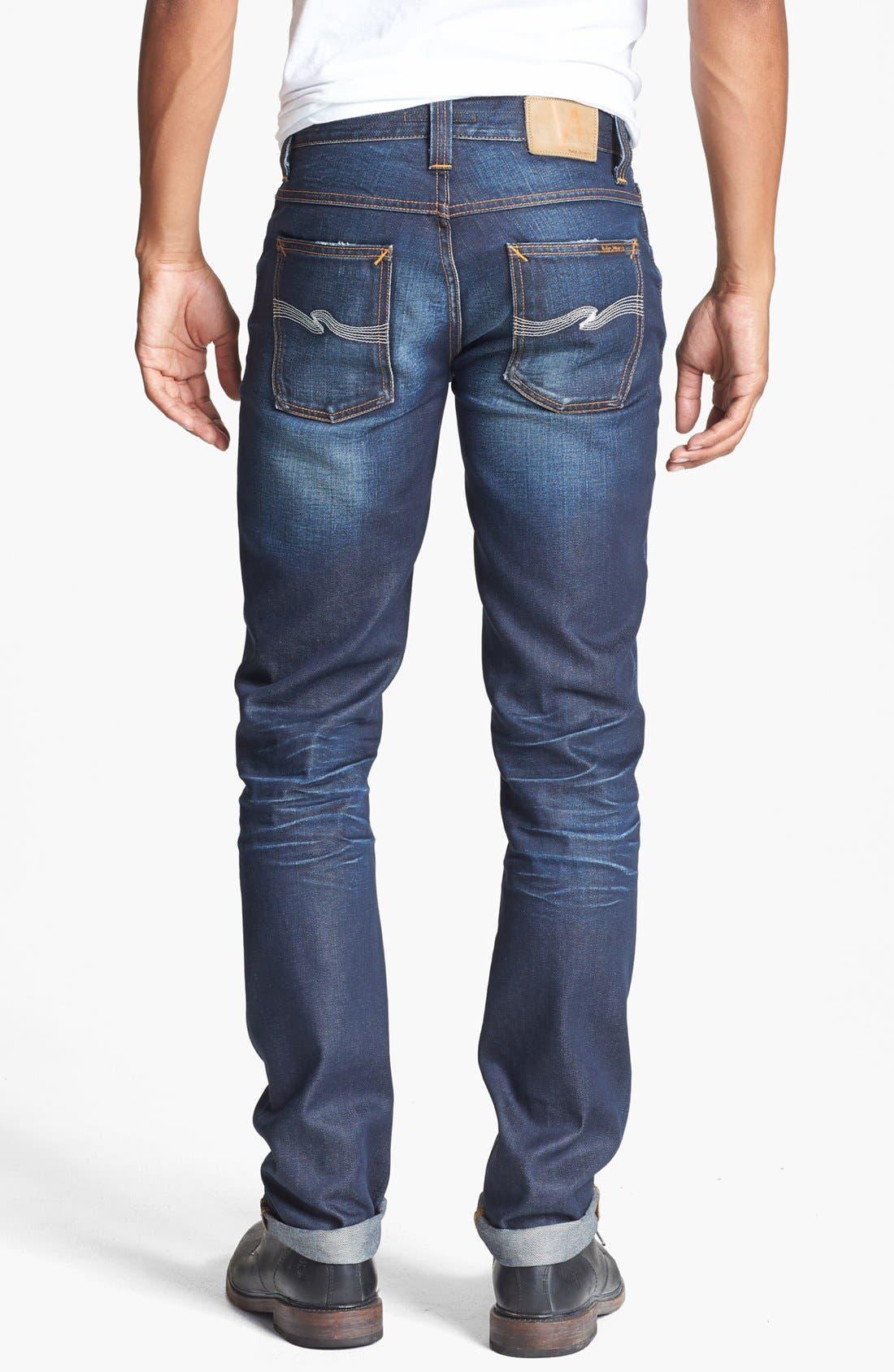 Alternate Image 1 Selected - Nudie Jeans 'Grim Tim' Skinny Fit Jeans (Organic Steely Blue)