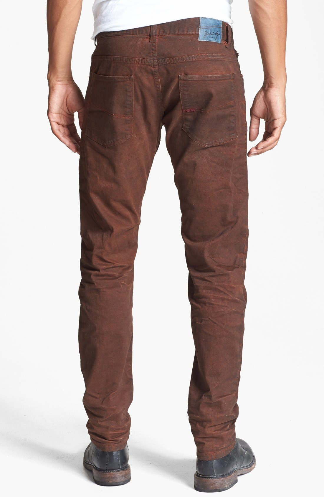 Alternate Image 2  - Gilded Age 'Morrison' Coated Skinny Fit Jeans (Faded Brick)