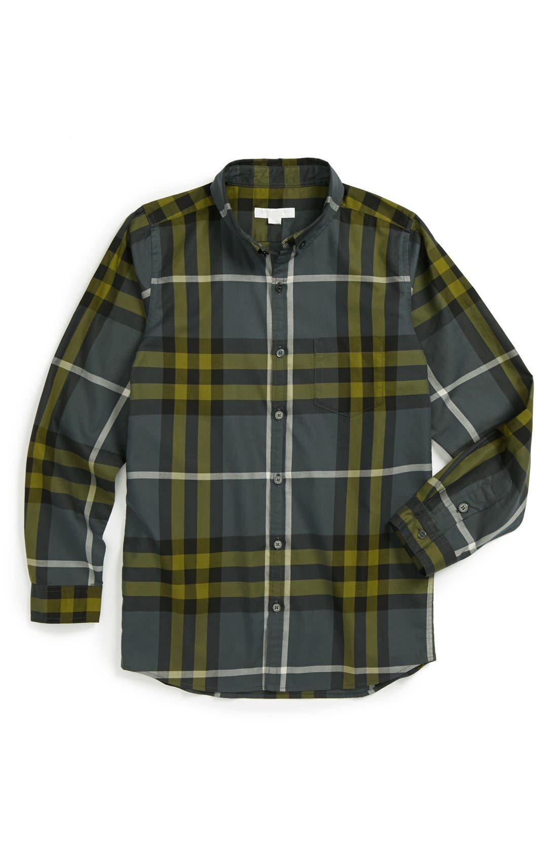 Alternate Image 1 Selected - Burberry Woven Shirt (Little Boys & Big Boys)