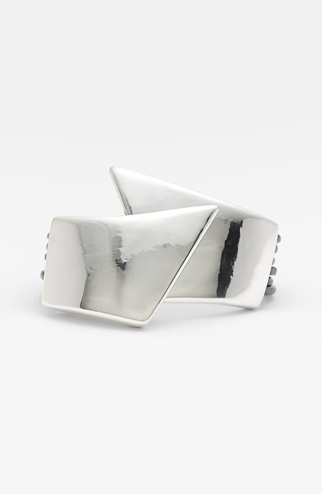 Alternate Image 1 Selected - Simon Sebbag 'Black & Silver' Leather Bracelet