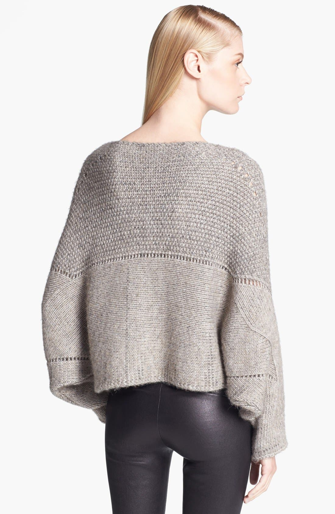 Alternate Image 2  - Helmut Lang Novelty Knit Poncho Sweater