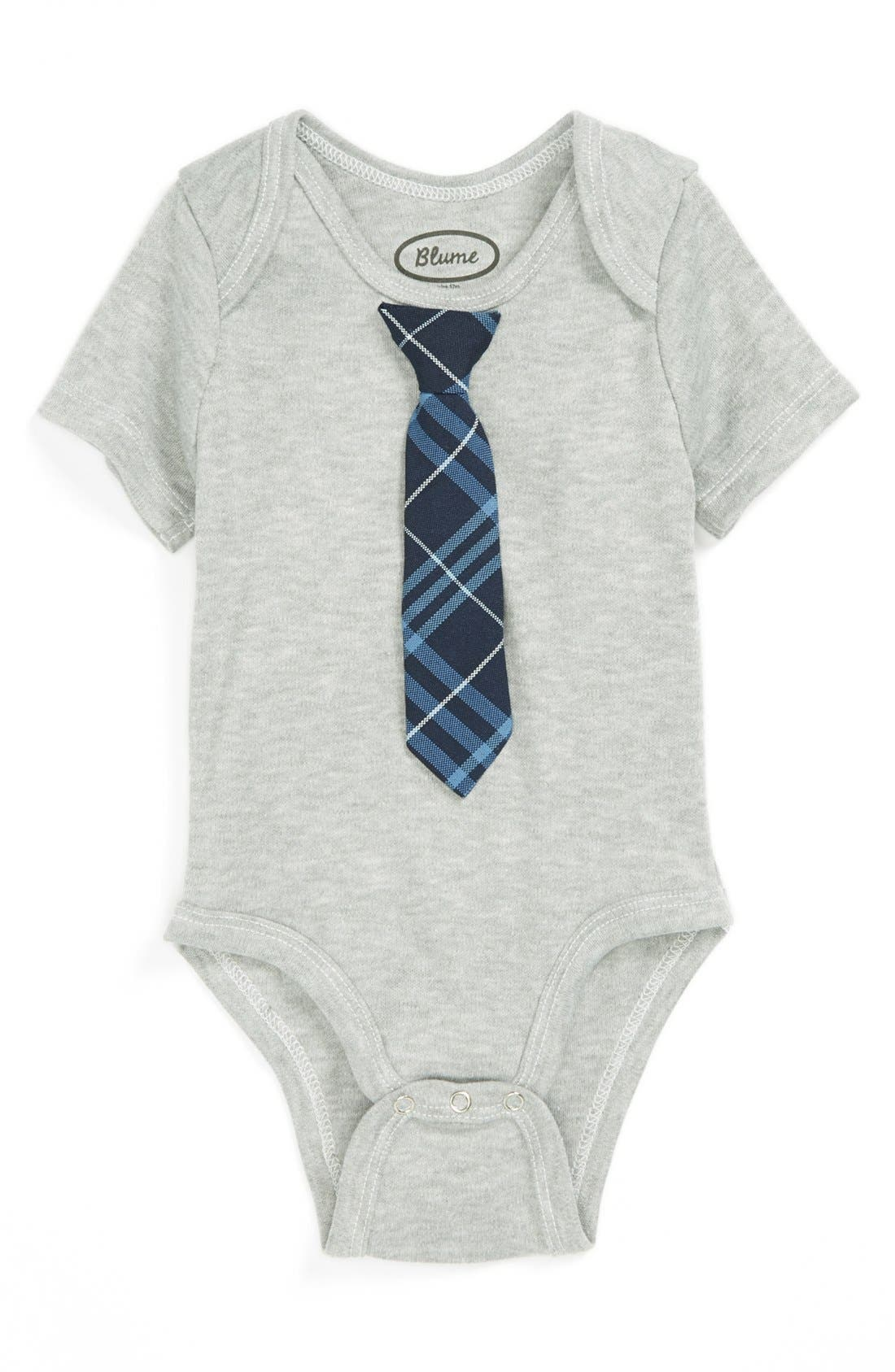 Alternate Image 1 Selected - Blume 'Tie' Bodysuit (Baby Boys)