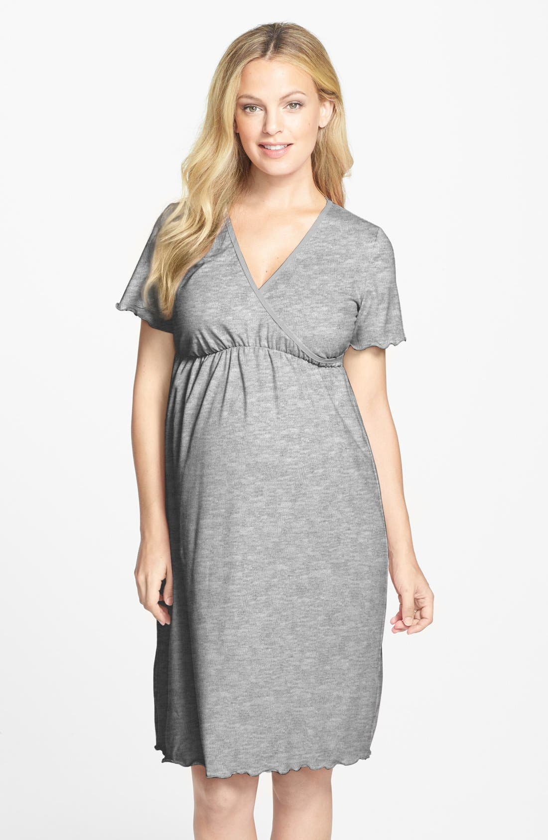 Japanese Weekend Surplice Maternity Nursing Nightgown