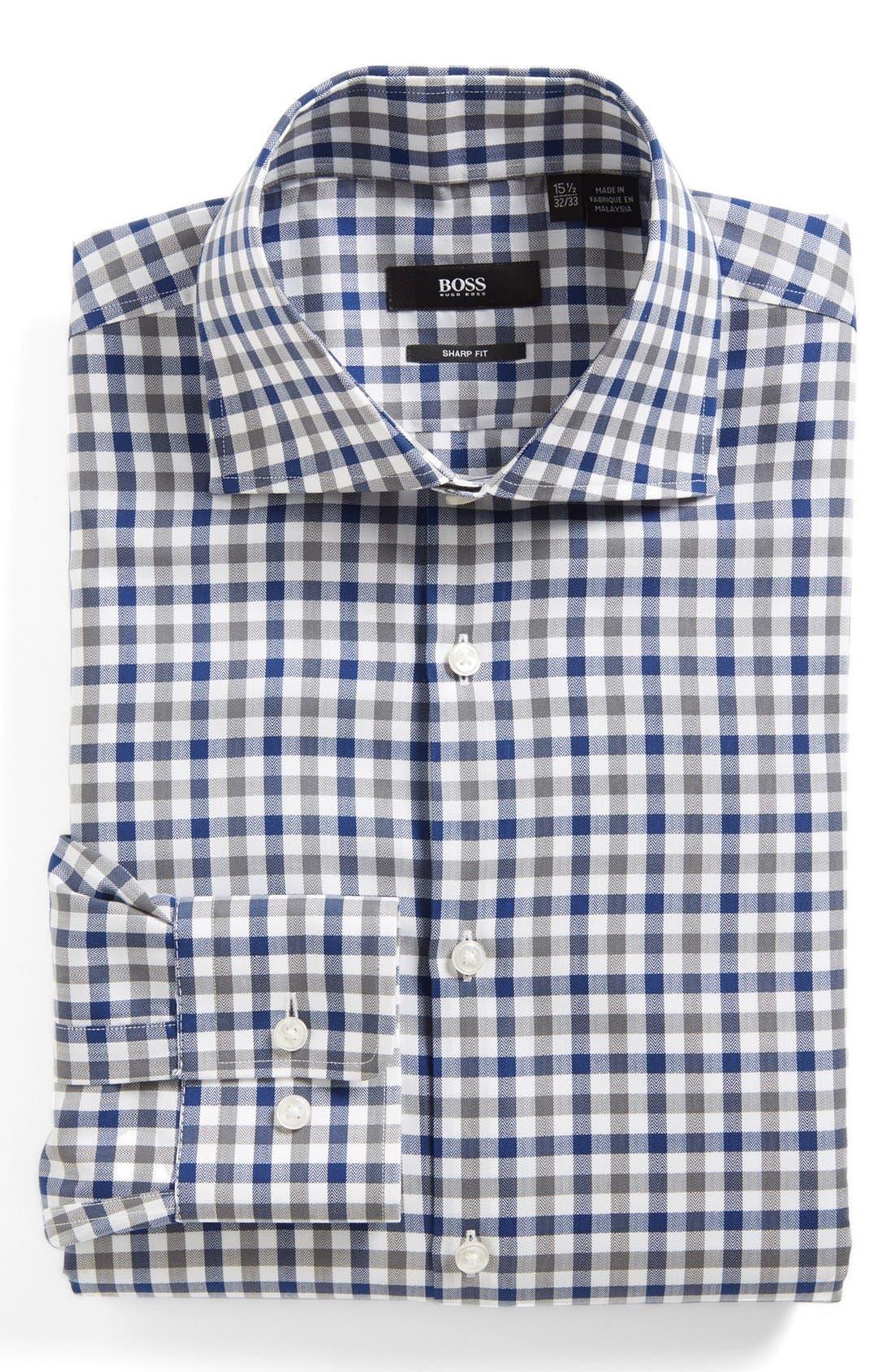 Alternate Image 1 Selected - BOSS HUGO BOSS 'Miles' Sharp Fit Dress Shirt