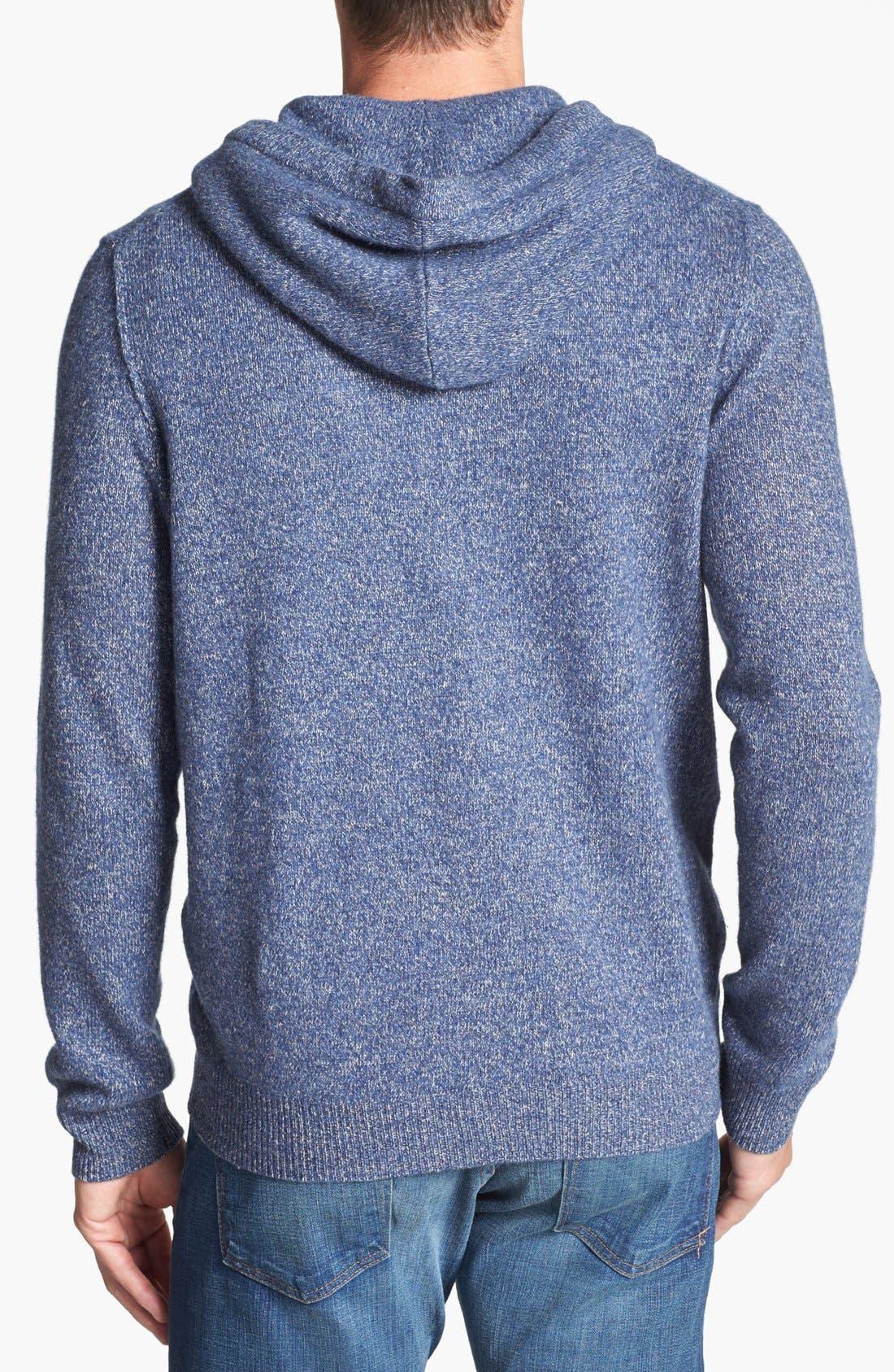 Alternate Image 2  - Nordstrom Wool Zip Hoodie