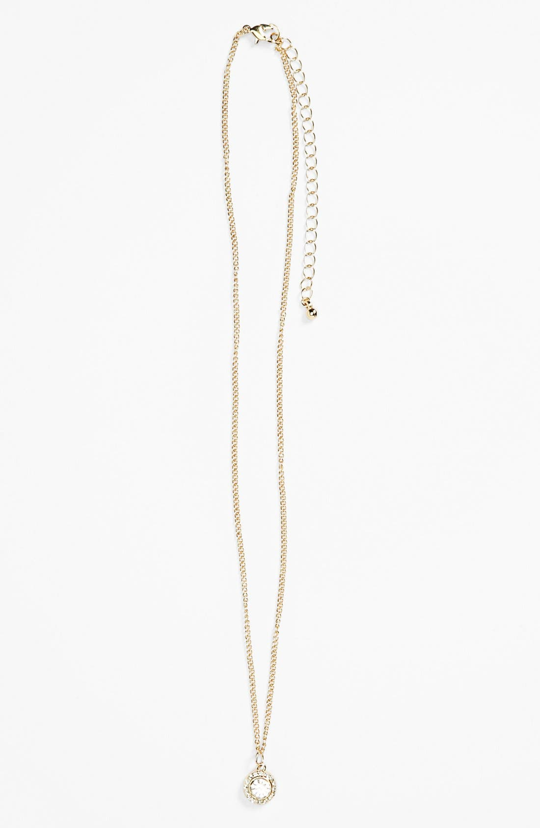 Alternate Image 1 Selected - Stephan & Co. Stone Charm Necklace (Juniors) (Online Only)