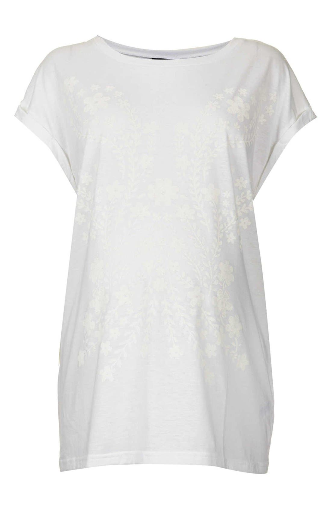 Alternate Image 1 Selected - Topshop Floral Placement Maternity Tee