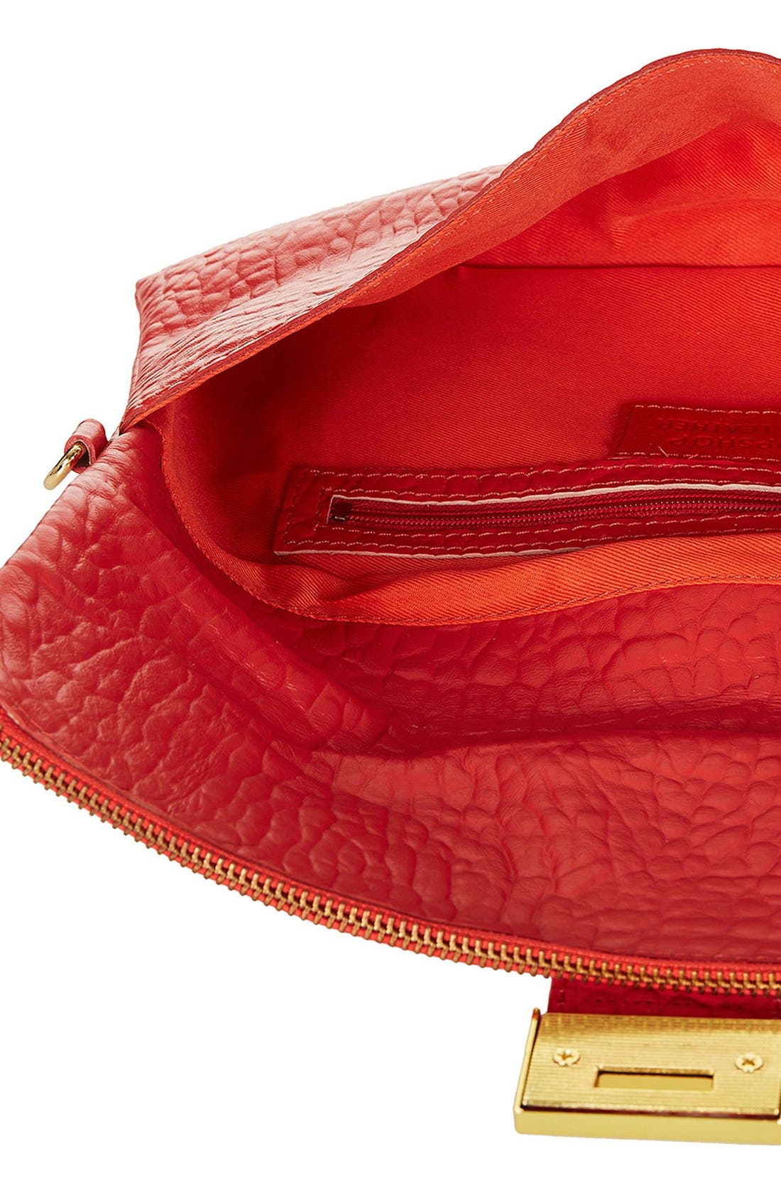 Alternate Image 2  - Topshop Leather Clutch