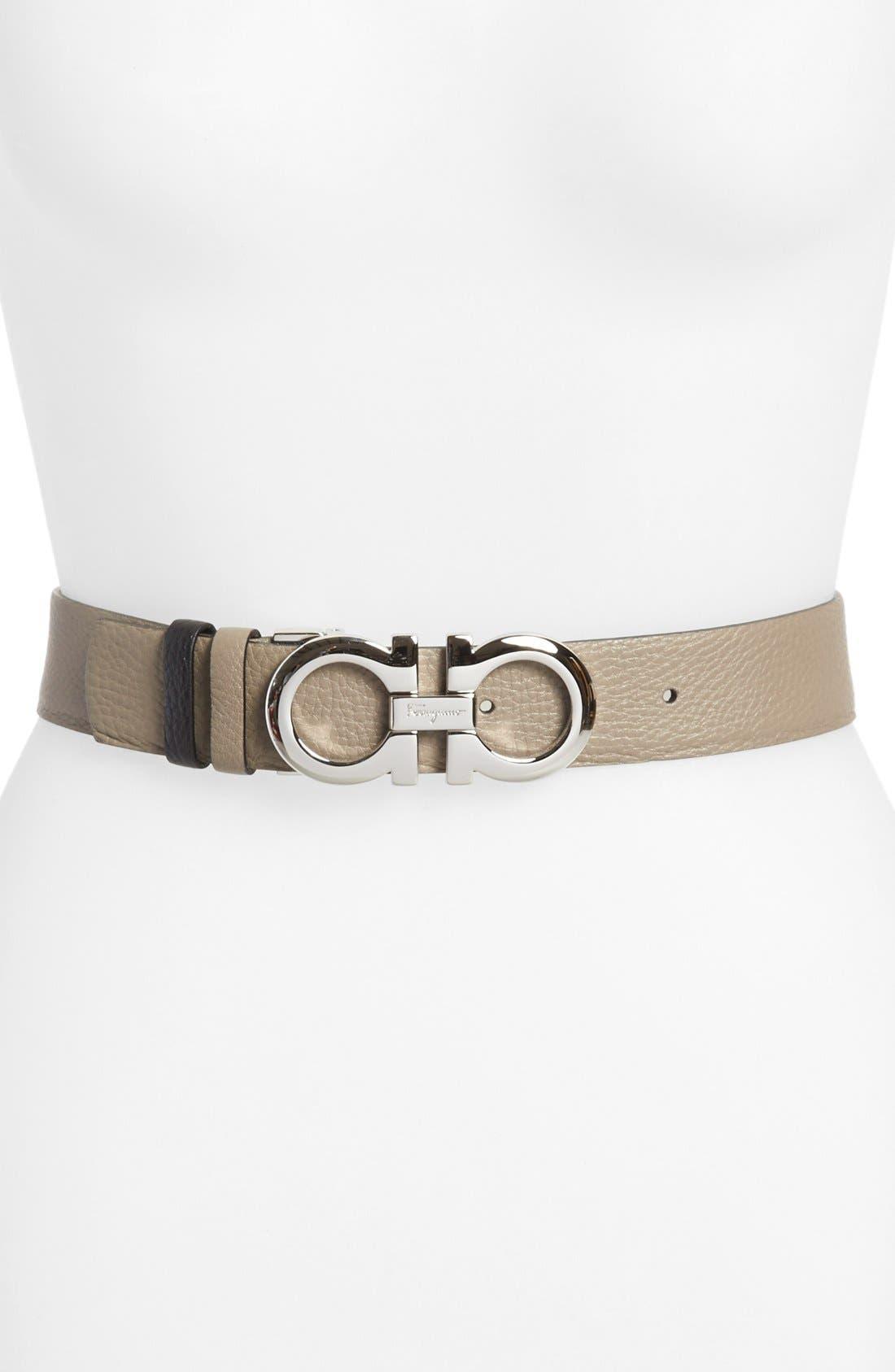 Alternate Image 1 Selected - Salvatore Ferragamo Gancini Reversible Belt