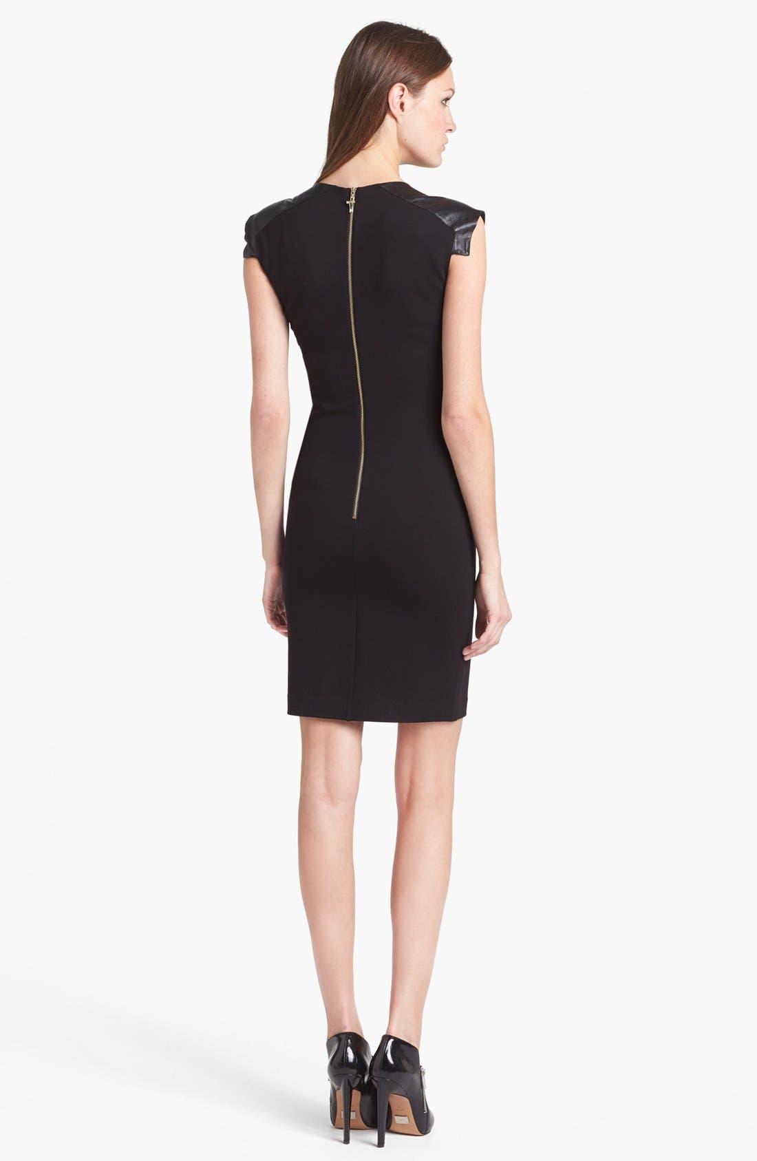Alternate Image 2  - Ted Baker London Leather Shoulder Sheath Dress